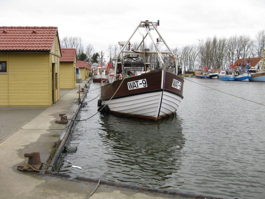 Hochwasser Hafen Freest