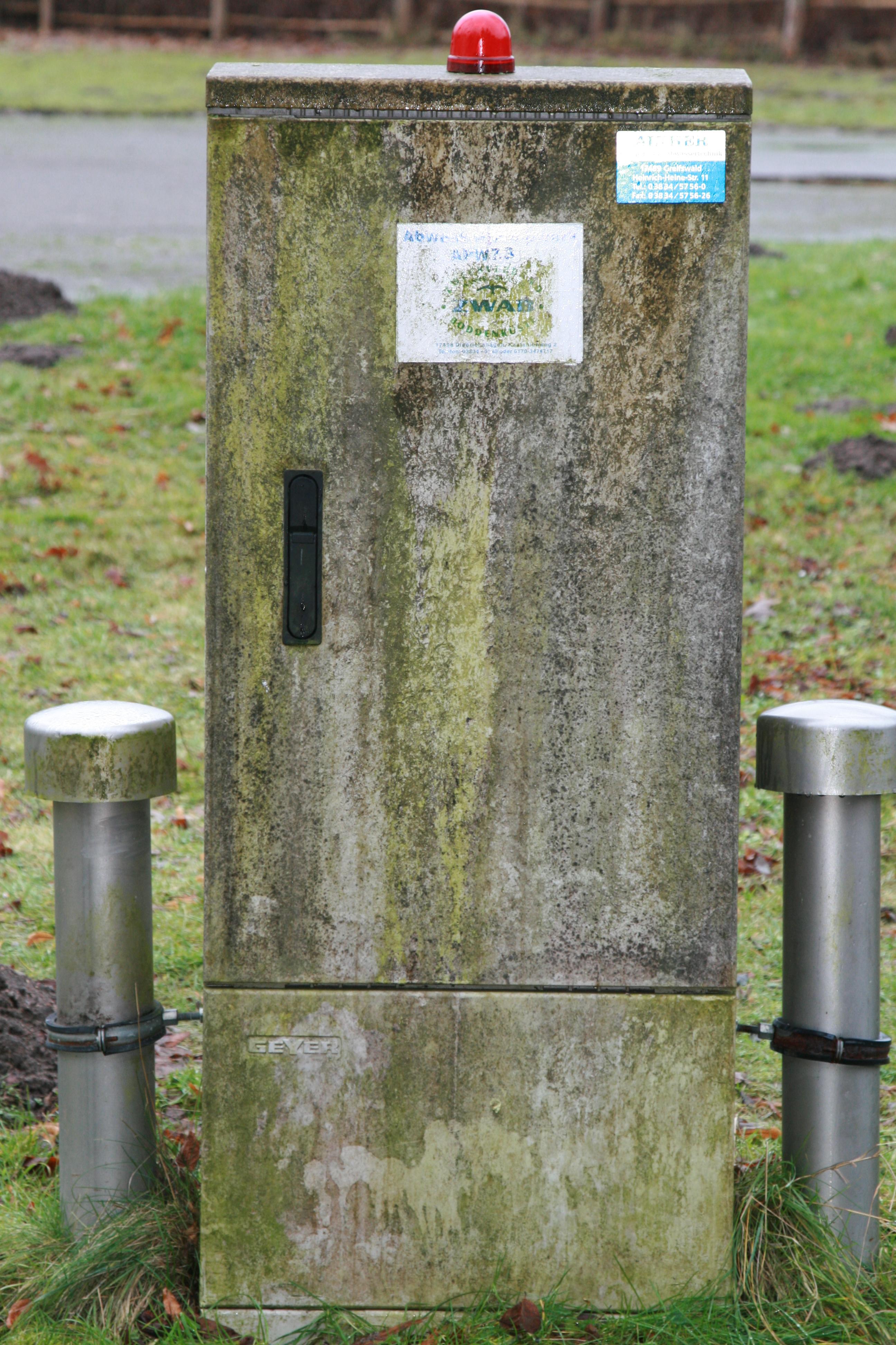 Elektroanschluss Abwasserpumpwerk - Anlagenalterung
