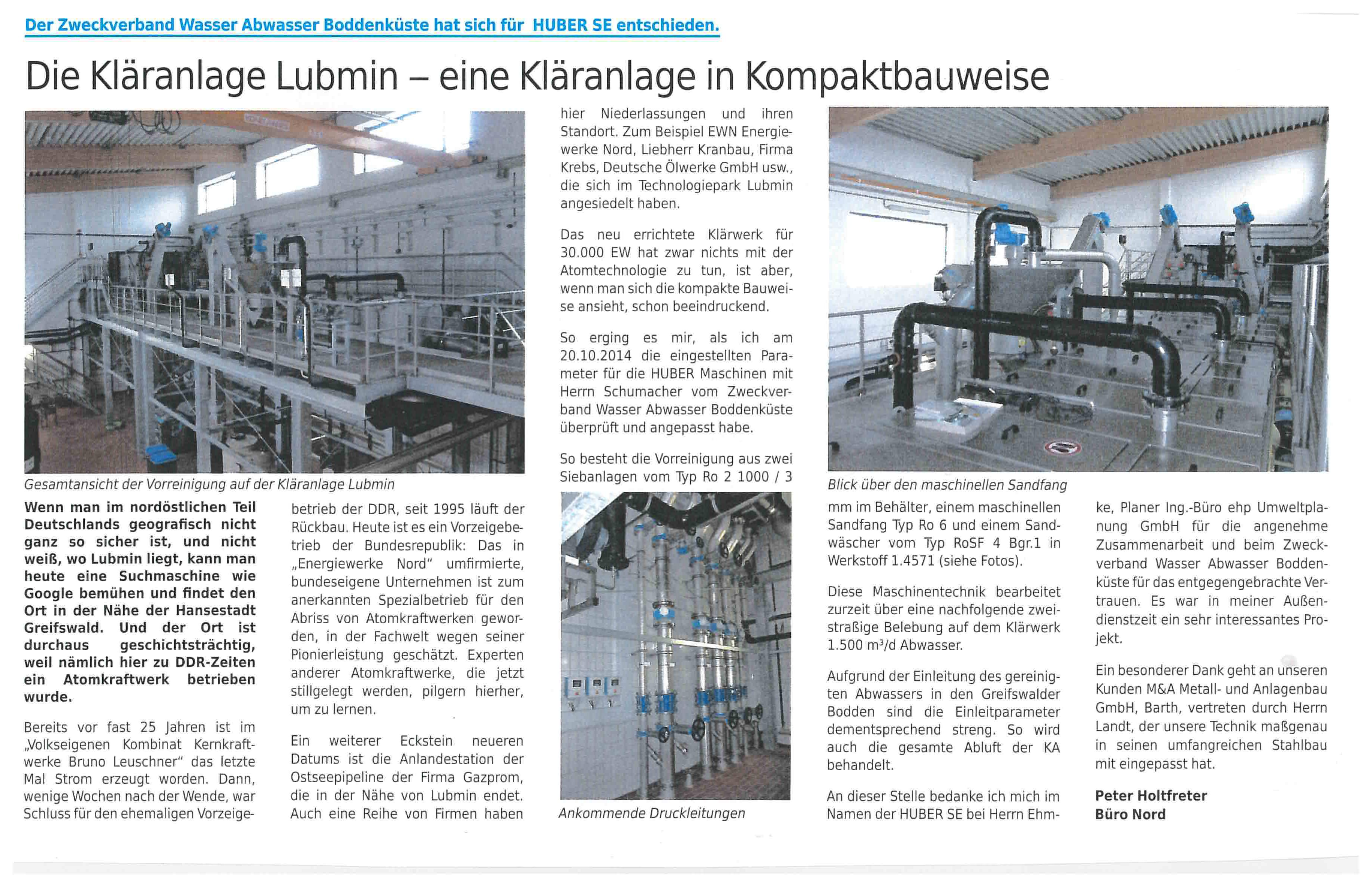 KA Lubmin Artikel