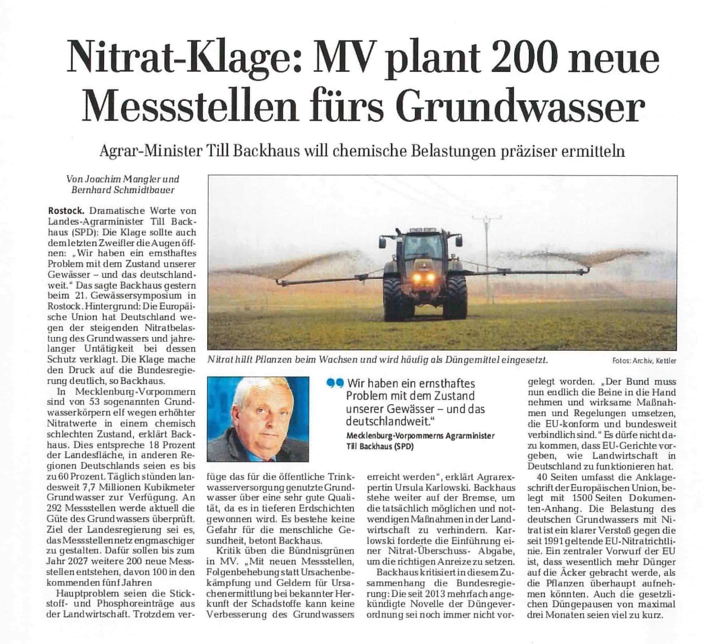 Nitrat-Klage