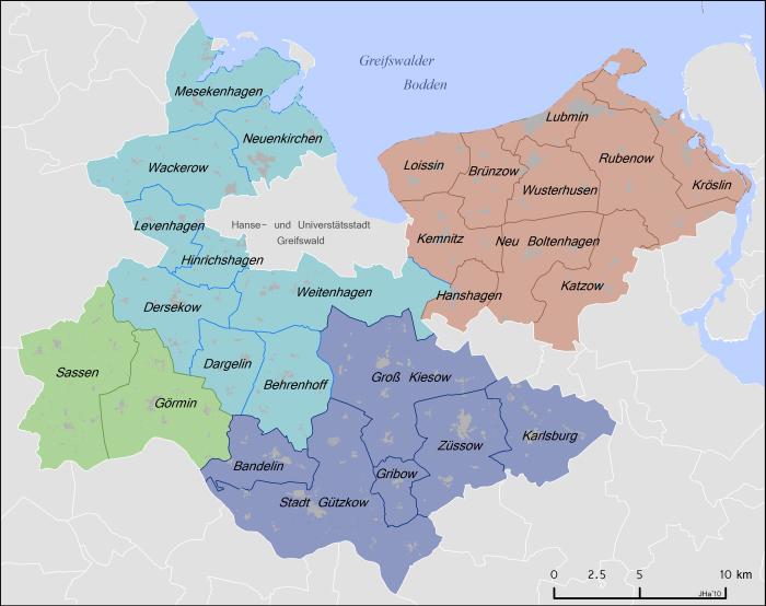 Karte des Verbandsgebietes